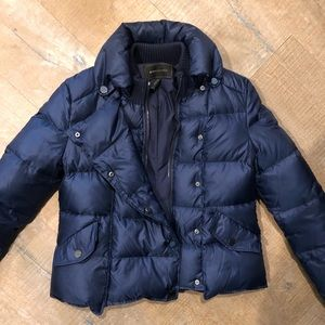 BCBG Isaac Puffer Coat in Pacific Blue